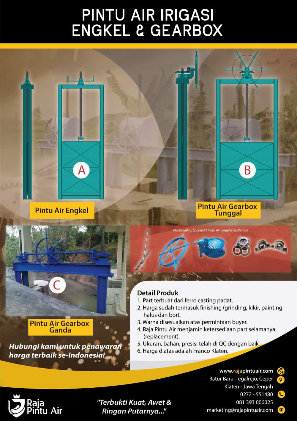 brosur pintu air engkel dan gearbox